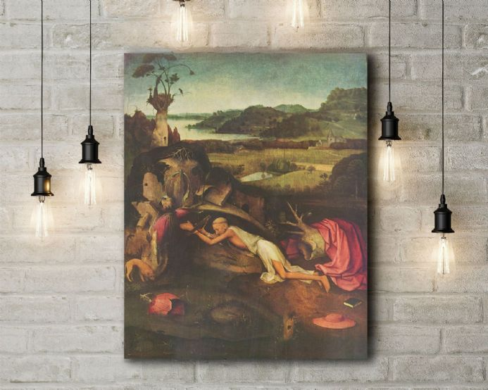 Bosch: St Jerome Praying. Religious Fine Art Canvas.